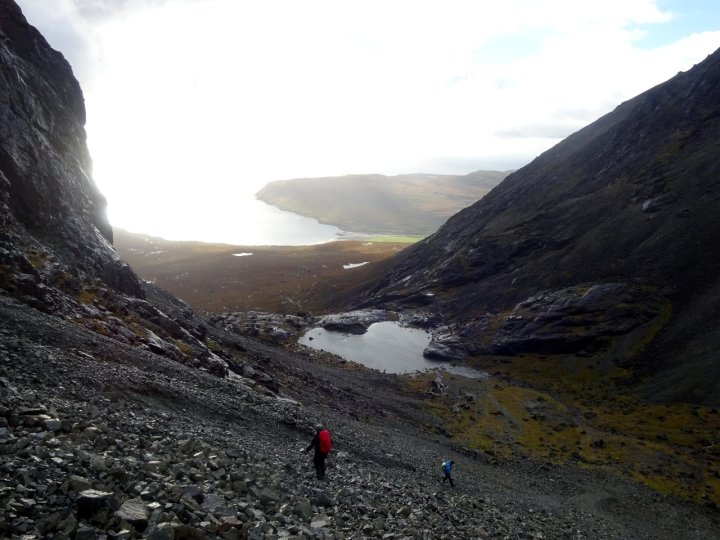 Descending the Great Stone Chute