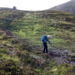 What happens when trails are not maintain - crossing peat bog in the Scottish highlands
