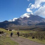 Arriving at Mechahuasca Hut, on the north side of Chimborazo