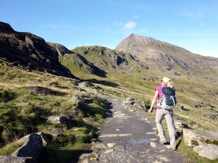 Ascending the Pyg Track towards Crib Goch