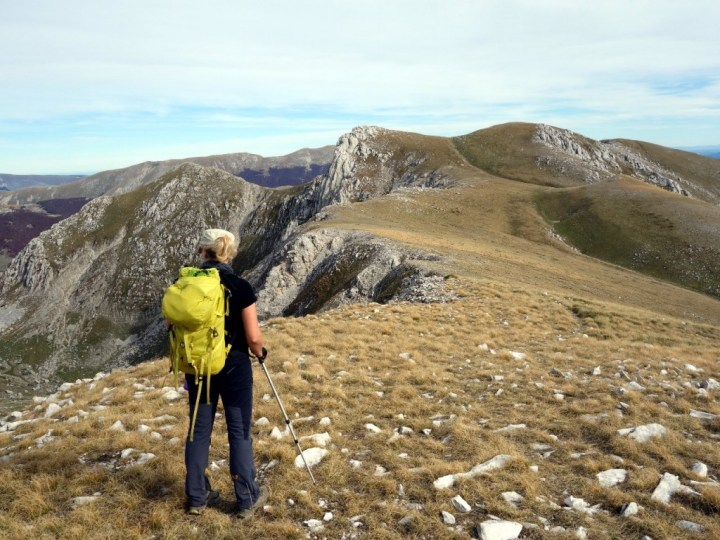 At the main summit of Monte Marsicano, looking towards the true summit