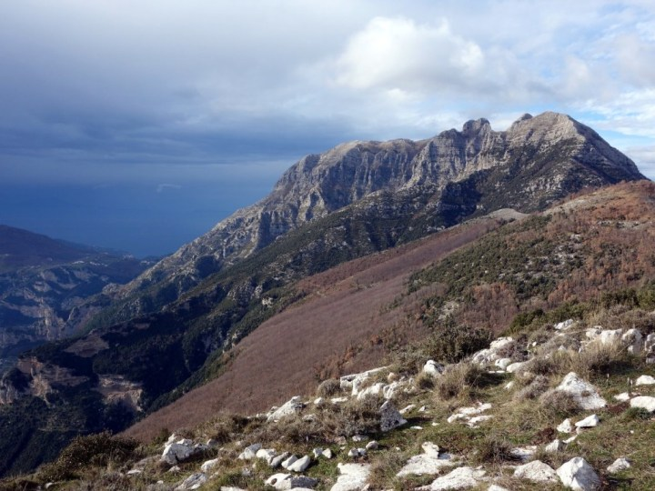 Monte Sant'Angelo a Tre Pizzi (1444m), an amazing triple-summited peak which dominates the Amalfi Coast