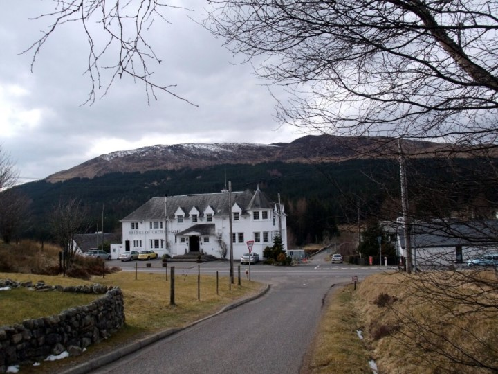Bridge of Orchy Hotel in the Highlands of Scotland