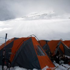 Up to Camp 2 on Cho Oyu