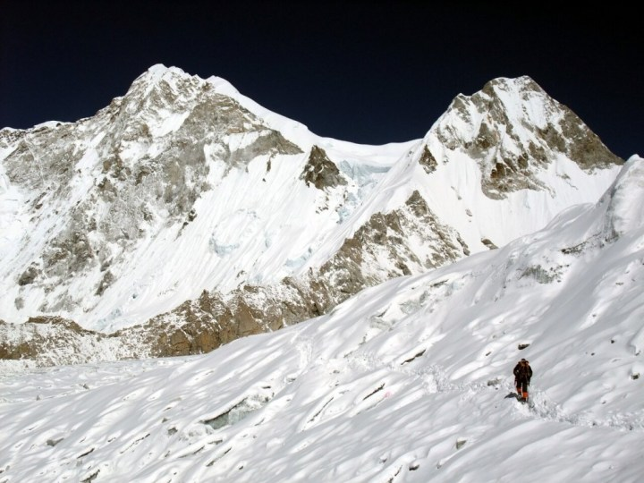 Approaching West Col, with Baruntse up ahead