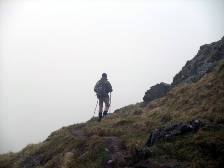 A clear path is always useful in our usual misty hill walking conditions
