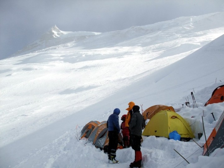 Camp 3 on Manaslu, where the avalanche struck last month