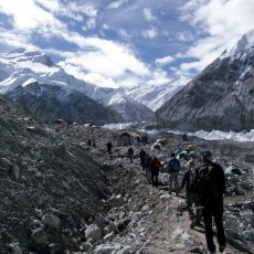 Arrival at Cho Oyu Base Camp