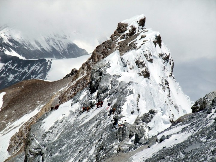 The North Ridge of Everest, where Lincoln Hall spent a night and David Sharp and Thomas Weber both perished