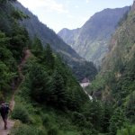 On the Manaslu Circuit up the picturesque Budhi Gandaki valley