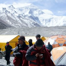 First Everest rotation; puja to end all pujas