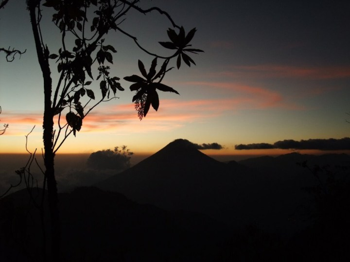From Volcan Zunil we watched a fabulous sunset over Volcan Santa Maria