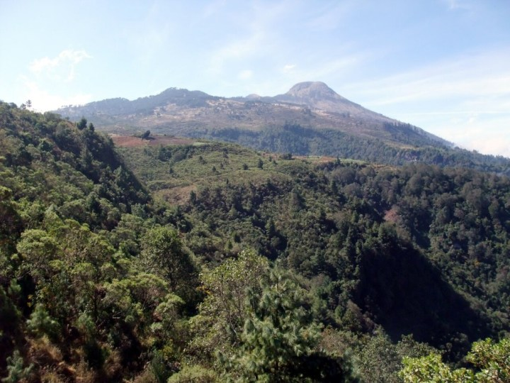 Volcan Tajumulco (4220m), the highest mountain in Central America, seen from near the trailhead