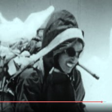 Archive footage of the 1955 first ascent of Kangchenjunga