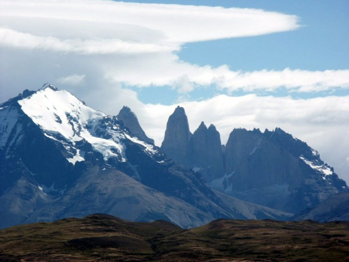 The Central Tower of the Torres del Paine (middle) in Chilean Patagonia