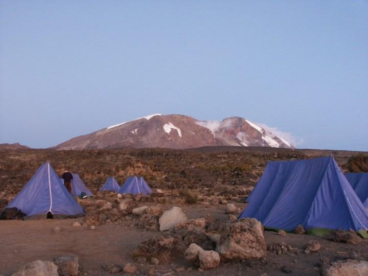 Kibo, Kilimanjaro's central summit, from the Shira Plateau