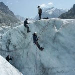Learning ice climbing skills on the Mer de Glace