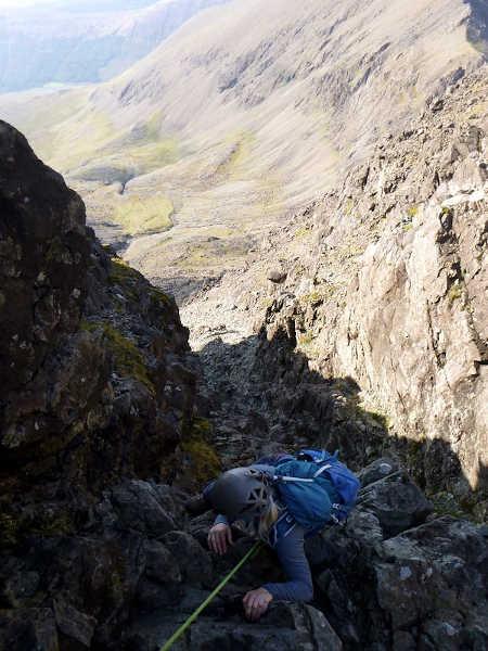 Down climbing into An Dorus