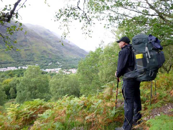 Me with my massive pack above Kinlochleven