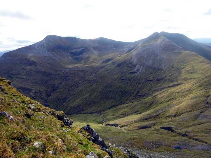 Binnein Mor and Na Gruagaichean from the Ring of Steall