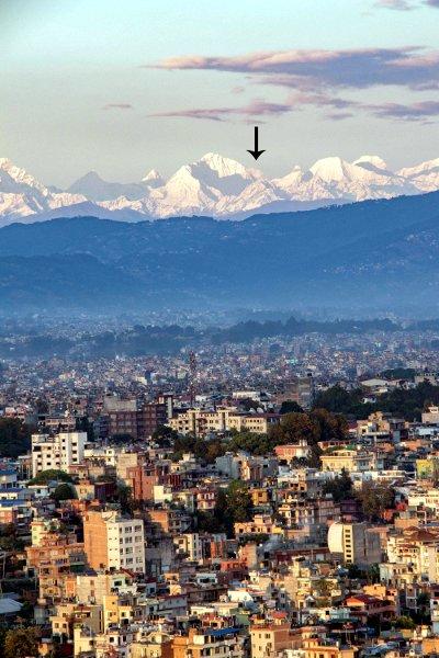Is this really Everest, seen from Chobar, Kathmandu? (Photo: Abhushan Gautam)