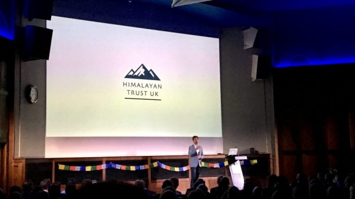 Kenton Cool gives a lecture in aid of the Himalayan Trust UK (Photo: Edita Nichols)