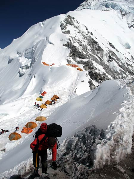 One thing in Tichy's favour was the route up Cho Oyu's west ridge from Tibet was fairly well-known as Himalayan peaks go, and believed to be quite straightforward
