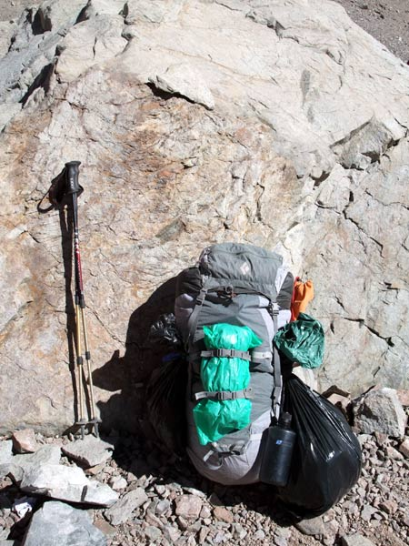 I had to source my Black Diamond Quantum 65 rucksack from overseas, but it was well worth the extra cost. The poo bag is optional, but a word of advice: be careful if also attaching an ice axe to the back.