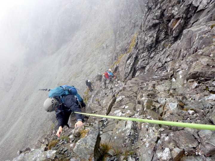 Climbing up Sgurr Alasdair