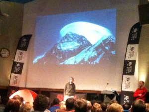 Ueli Steck talks about Everest at the Royal Geographical Society in London