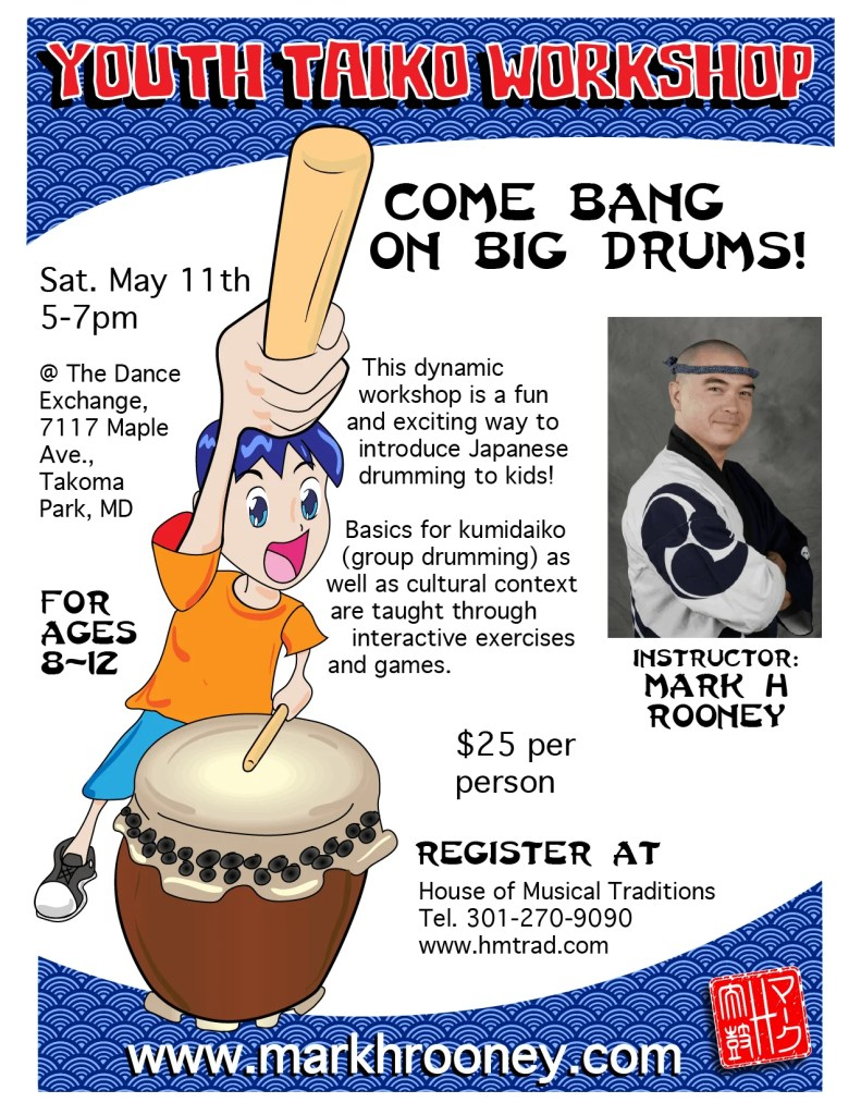 Youth Taiko Workshop May 11th