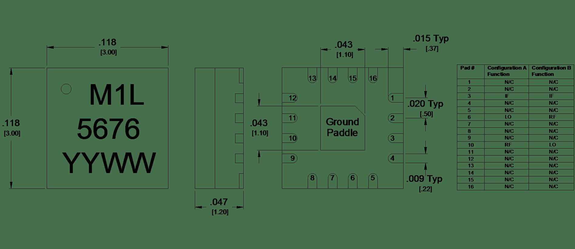 Mm1 Lsm Gaas Mmic Double Balanced Mixer