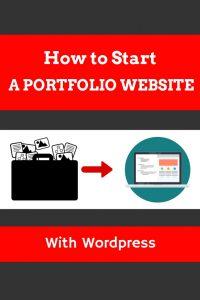 How to start a portfolio website