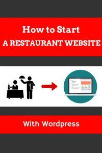How to start a restaurant website