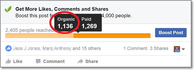 Marius Kiniulis Facebook Page Organic Reach