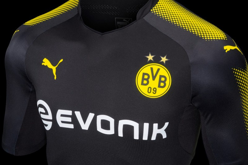 dc56a253d The Borussia Dortmund 17-18 away kit is part of Puma s Step Out football  kits collection.