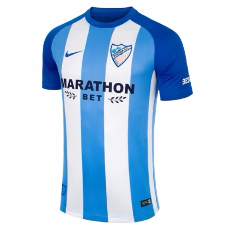 533ddb1d3 The Malaga 17-18 Home jersey celebrates the club s 10 years in the top  flight with a bespoke look.