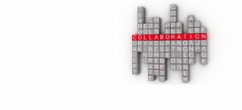 Collaboration Word Cloud Concept on a 3d by David Castillo Dominici courtesy of FreeDigitalPhotos.net