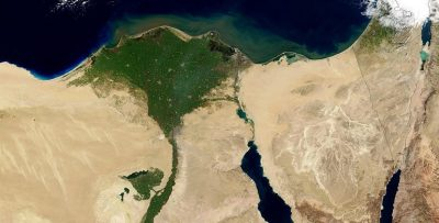 Egypt Nile aerial view land map courtesy of Pixabay