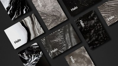 Halo brand identity business cards