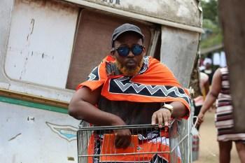 Orange_Performance Art Project. Photograph by Siya Zungu.