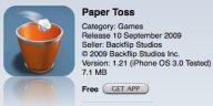 App - Paper toss