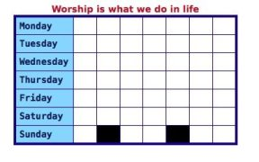 Worship 2 - not church