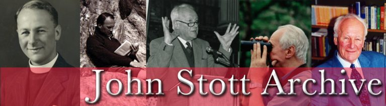 A new John Stott Resource Page