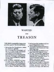 JFK - 1963 wanted for treason