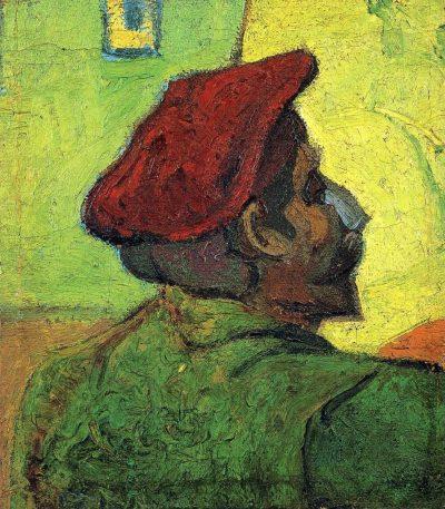 Van Gogh - paul-gauguin-man-in-a-red-beret-1888