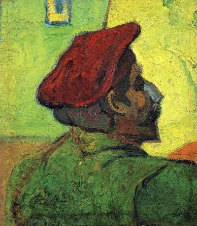 Van Gogh - paul-gauguin-man-in-a-red-beret-1888