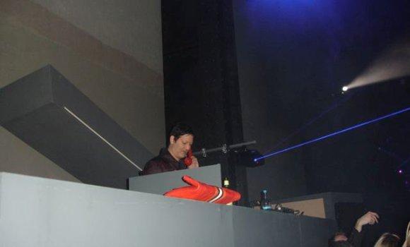 Mark at the controls