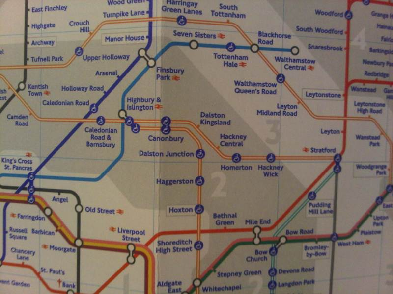 The new London Underground map is out  March 2011 edition  London Underground Tube Map   Highbury   Islington detail