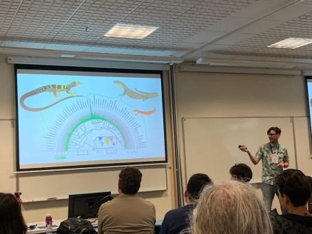 Ian Brennan delivering his fantastic talk on varanid evolution